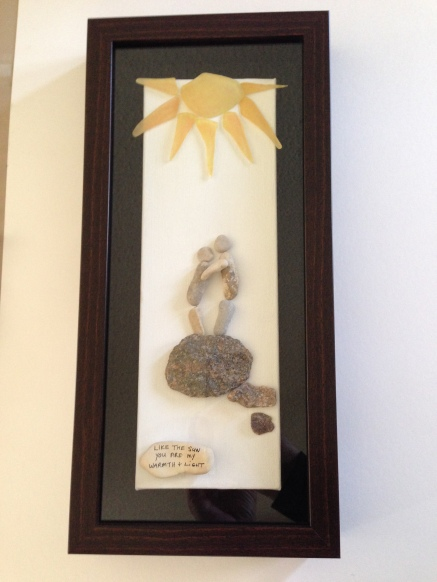 """""""Like the Sun you are my Warmth and Light"""". Custom design for wedding gift"""