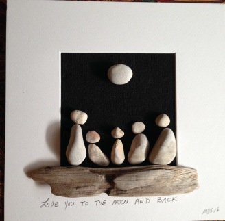 Love you to the moon and back- family