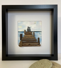 """ The Dock"" features original water colour background"